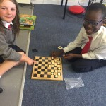 playing draughts